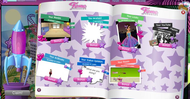 Alors, ce nouveau Fame Magazine, ca vous plaît??? :D